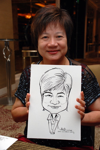 caricature live sketching for wedding dinner 120708  - 60