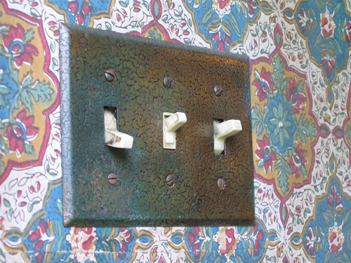 Oxidized metal light switch cover