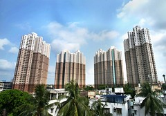 South City, Kolkata (seaview99) Tags: building skyline skyscraper view apartment towers tall residential kolkata calcutta condominium southcity anwarshahroad