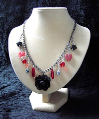 Gothic Rose - a charm necklace