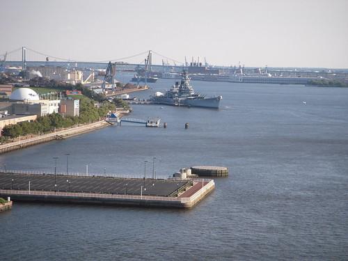 Battleship and bridge