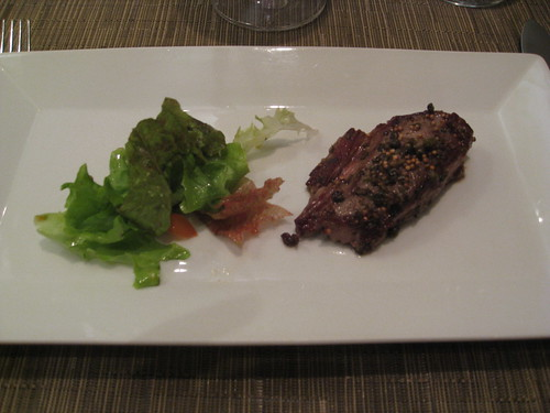 Zazu, Quito, Ecuador: Beef Tenderloin with Green Peppercorns, Salsa and Dill/Caraway Sauce