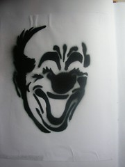 Clown Face Stencil