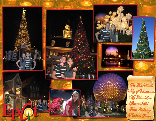 Epcot Christmas Layout