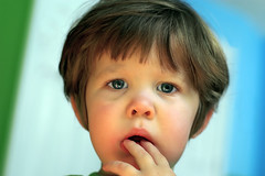 Billy the Toothy Teether (Diarmada) Tags: portrait baby 50mm birmingham pentax alabama billypilgrim
