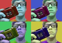 "Day 249/365 ""Warhol"" (Hunter Wilson) Tags: summer portrait color film andy photoshop self d50 four nikon cam nolan 4 quad september warhol wilson hunter 365 2008 wellstone 365days hunterwilson"