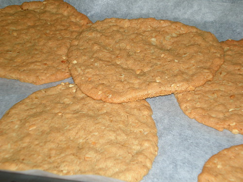 Giant Peanut Butter Oat Cookies
