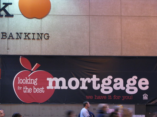 the storefront signage of a mortgage bank