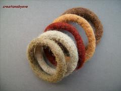 felt bangles (creationsbyeve) Tags: europe felting handmade felt greece bracelets bangles