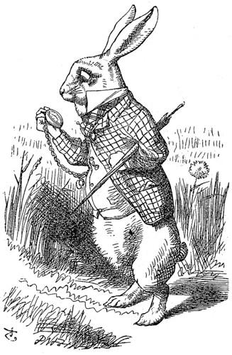 A- El conejo blanco-Edición 1866 –Tenniel
