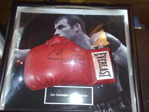 charity house london wales ball hall dragon auction signature joe autograph glove welsh boxing queensway bayswater porchester calzaghe