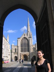 Katie at Norwich Cathedral