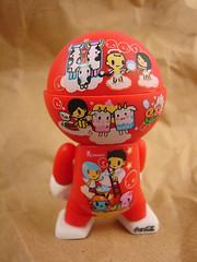 Bollicina - Tokidoki (she.likes.cute) Tags: red toy toys simone cola designer vinyl trexi coca abettertomorrow legno tokidoki bollicina