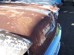 Rusty Carhood--Poem--On Growing Old (below) (search4agape) Tags: abstract macro oldcar contrasts rustyparts