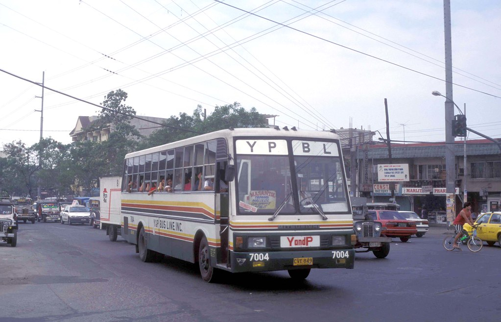 Y & P Bus Line Inc Mitsubishi CVE-849 (7004) J Abad Santos near Solis Street, Tondo, Manila, Philippines.