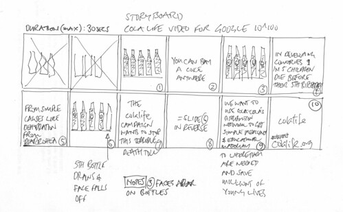Storyboard for Google 10^100 video