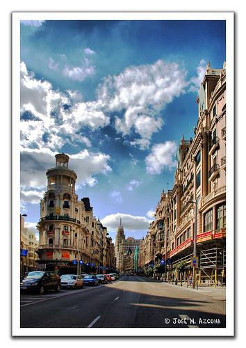 Madrid. La Gran Vía. por josemazcona.