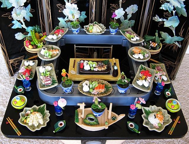 blythe teppanyaki cocktails rement tokyoagogo sushitrain sushilounge miniaturefood fashionroyalty fashiondolls bratzsushibar slipperorchids dolldiorama bluehawaiicocktail