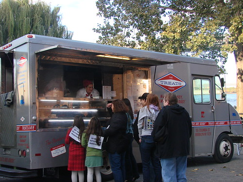 The Treats Truck feeds the crowd