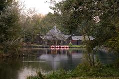 Delftse hout (dmsmidt) Tags: park lake netherlands forest boats meer nederland delft pavilion bos waterfiets