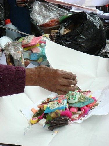 Aymara tradition (incl. llama foetus) in La Paz...