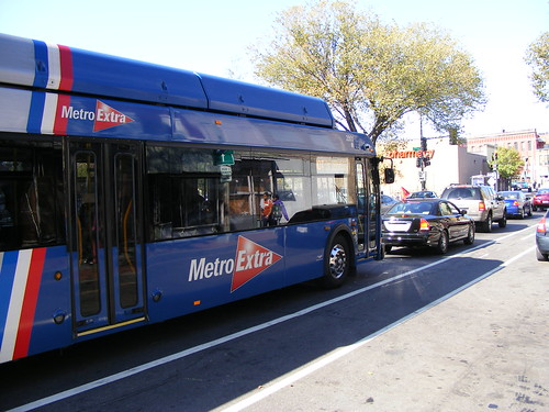 MetroExtra Bus Headed Towards Silver Spring