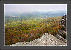 VA-2008-10-24-031 Old Rag View (retzcare) Tags: fall clouds canon virginia rocks tripod earlymorning cliffs foliage va 5d appalachian shenandoah gitzo scramble foggymorning oldragmountain oldrag shenandoahnp rockypeak retzcare retzercariaga ef1635mmiil