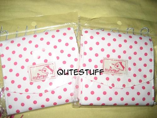Pink polkadot sanitary pouch