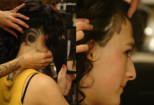 haircut curly · longhair with pattern undercut