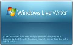 windows live writer splash