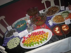 The food spread!