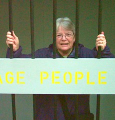 Don't cage me in any longer (Help the Aged campaigns) Tags: charity west alan shopping centre johnson cage rage quay kingston help age mp aged hull princes upon discrimination hessle ageism