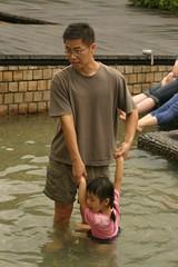 湯圍溝公園:Doris與爸爸