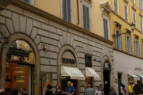 有很多名店在西班牙人廣場這裡