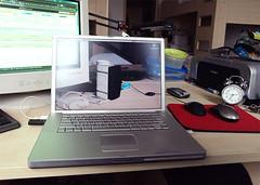 ktelez / a must have (debaj) Tags: apple glass powerbook macintosh g4 screen transparent effect