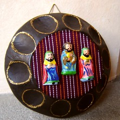 Los Tres Reyes (Three Kings) (lachapina) Tags: christmas wood ceramic handmade guatemala crafts threekings epiphany guatemalan tresreyes colorsinourworld