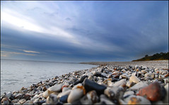 Beach. (Michael.P.Riis) Tags: autumn sea beach water stone denmark nikon october 2008 jutland jylland grenaa djursland 18200vr nikond40x d40x