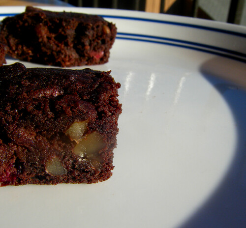 cranberry-healthy-brownies