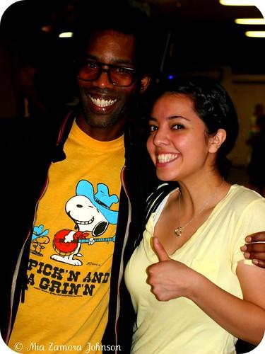 DJ Lance Rock (Yo Gabba Gabba) w/my sister