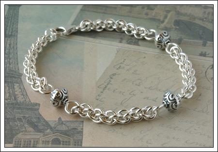 Jens Pind Linkage & Bali silver bracelet