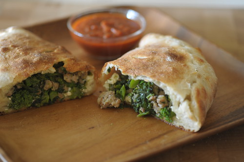 Delicious Broccoli Raab And Sausage Calzone