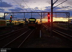Redfern Station Sunset (Kyaw Photography) Tags: sunset station train photoshop hdr redfern cs3 layermask