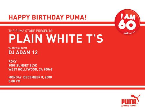 Puma Party 12/8