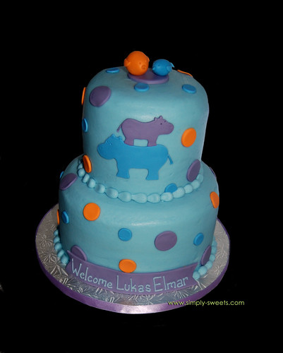 Hippo Baby SHower Cake | Bear Heart Baking Company