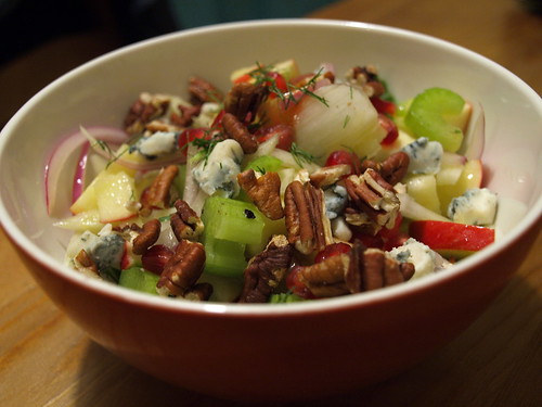 apple, fennel, pomegranate, blue cheese, and toasted walnuts