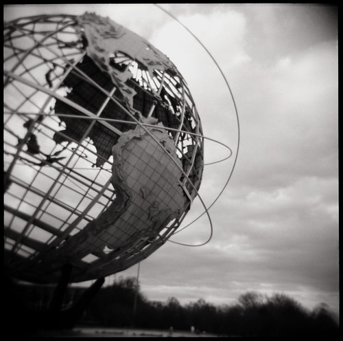 unisphere, up close | flushing meadows park
