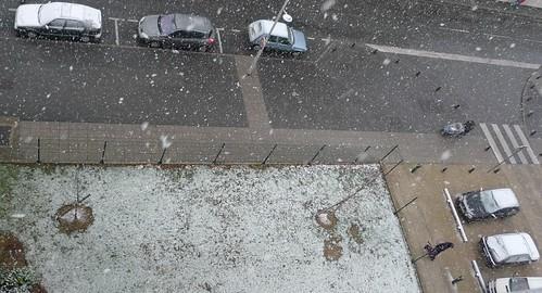 Neige sur la région parisienne !