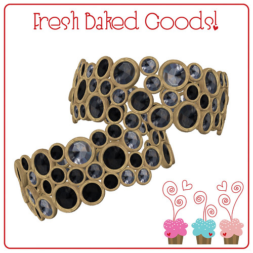 ~*FBG*~ Black & White Colored Sugar Gold Thumbprint Cookie Cuffs