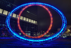 The Eye (Philipp Klinger Photography) Tags: blue winter light shadow red sky sculpture reflection eye glass grass metal architecture night clouds facade skyscraper germany deutschland nikon europa europe long exposure hessen frankfurt illumination fair ring rings highrise lantern tamron philipp westend hochhaus pollux hesse 1735mm wolkenkratzer kastor klinger flickrsbest aplusphoto d700 colourartaward dcdead tamron1735mmf2840