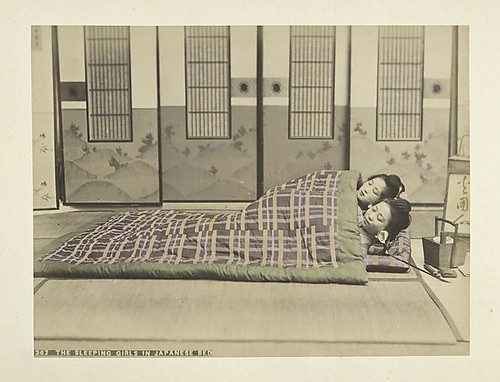 The Sleeping Girls in Japanese Bed
